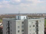 Panelový dům, zateplení, atika, Pardubice